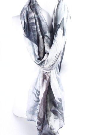 Lala Berlin Schal grau-graublau Animalmuster Casual-Look