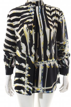 Lala Berlin Silk Blouse abstract pattern street-fashion look