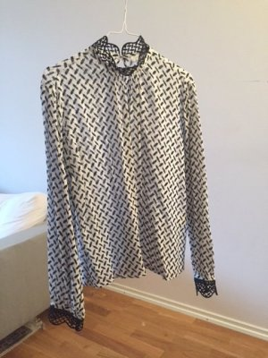 lala berlin Set schwarz weiß Baumwolle Muster NP 650 XS