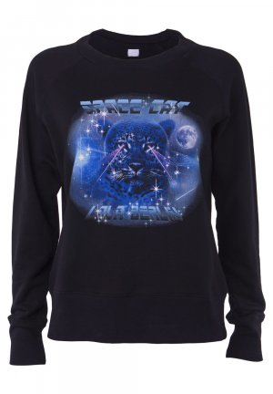 "Lala Berlin ""Space Cat"" Sweatshirt Pulli schwarz - XS"