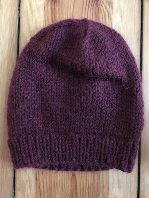 Lala Berlin Chapeau en tricot bordeau