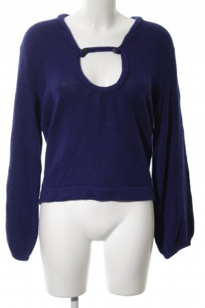 Lala Berlin Strickpullover blau Casual-Look