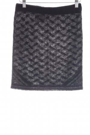 Lala Berlin Knitted Skirt black-silver-colored abstract pattern party style
