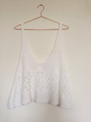 Lala Berlin Knitted Top white cotton