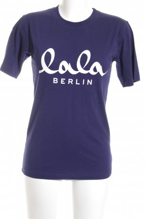 Lala Berlin T-Shirt dunkelblau-weiß Street-Fashion-Look