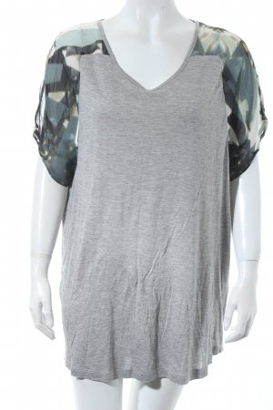 Lala Berlin T-Shirt grau Materialmix-Look