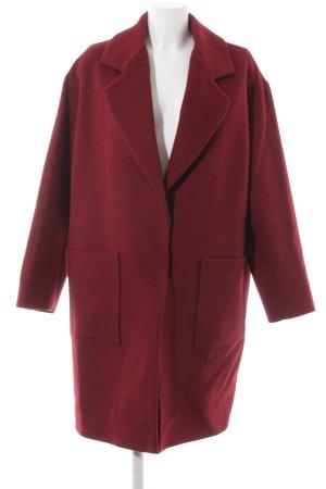 Lala Berlin Abrigo de lana carmín estilo clásico