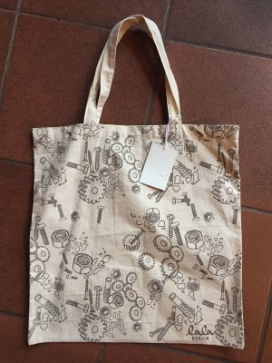 Lala Berlin Canvas Bag natural white-grey brown cotton