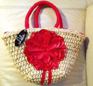 Basket Bag oatmeal-red others