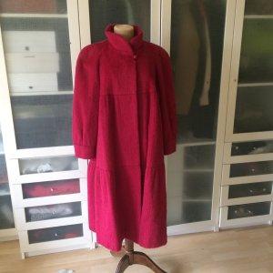 Lama Haus Vintage Mantel aus Lama Fell Gr. 38 fuchsia