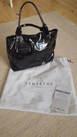 Lamarthe Tasche aus Lackleder in schwarz