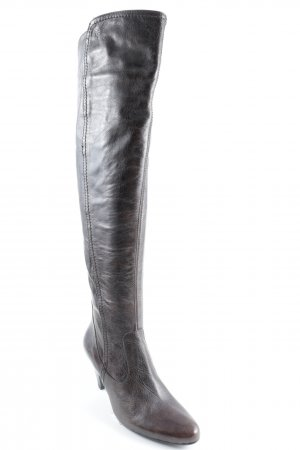 Lamica Reißverschluss-Stiefeletten braun Casual-Look