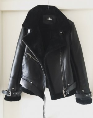 Biker Jacket black fur