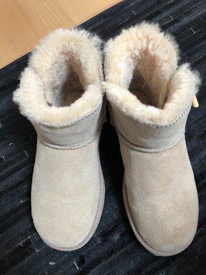 Bottes de neige jaune clair-chameau cuir