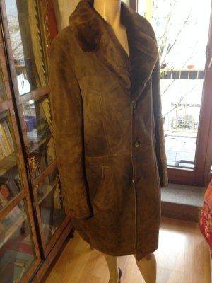 Breuninger Exquisit Chaqueta de piel marrón oscuro-marrón Piel