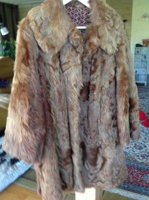 Cappotto invernale marrone chiaro Pelliccia