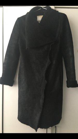 InWear Manteau en cuir noir