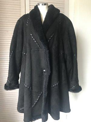 Giorgio Mobiani Pelt Coat black leather