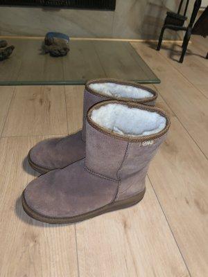 Emu Fur Boots brown