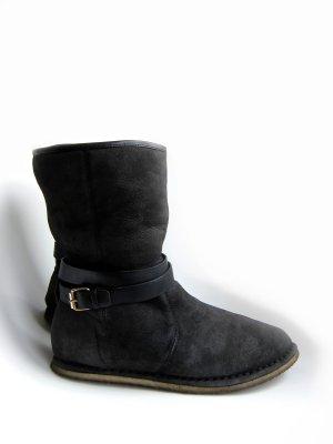 Lammfell Stiefel Lammfell-Boots gefüttert ★