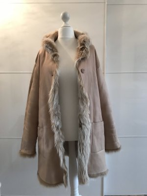 Max Harder Pelt Coat nude-oatmeal