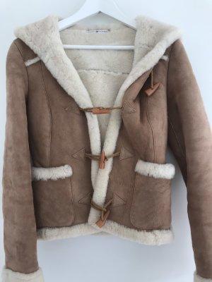 Tommy Hilfiger Fur Jacket camel