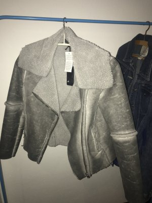 Lammfelljacke faux in grau GUESS