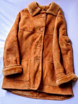 Fabiani Fur Jacket cognac-coloured-dark orange