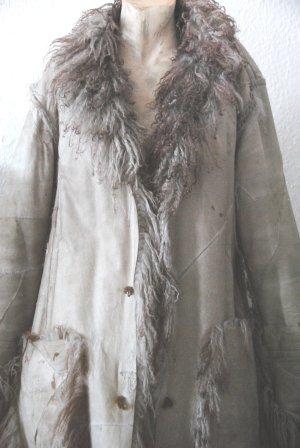 Cappotto invernale grigio-rosso mora