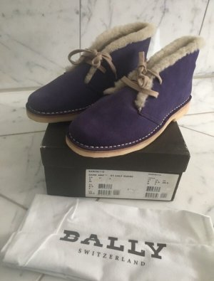 BALLY SUISSE Lace Shoes oatmeal-dark violet