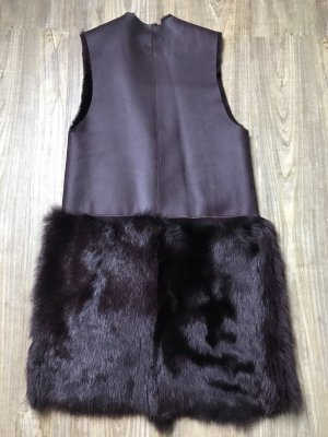Fur vest purple fur