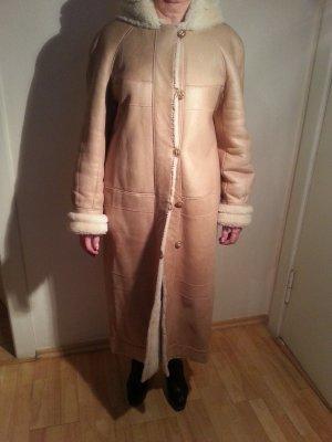 Lammleder langer Mantel, Lammleder geschoren