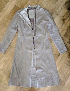 Cigno Nero Leather Coat beige-oatmeal leather