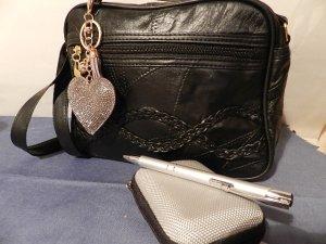 Lammleder Tasche in Patchwork Optik,Handtasche,Schultertasche mit Zubehör - NEU