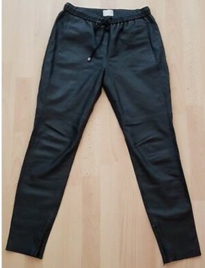 Mrs & HUGS Leather Trousers black-silver-colored leather
