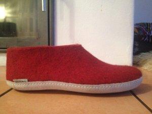 Zapatillas para casa rojo oscuro