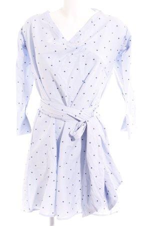 lana nguyen Hemdblusenkleid blassblau-schwarz Sternenmuster Casual-Look