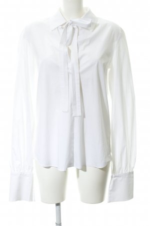 lana nguyen Langarm-Bluse weiß schlichter Stil
