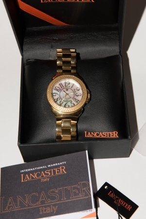 LANCASTER Watch With Metal Strap primrose real gold