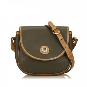 Lancel Embossed Leather Shoulder Bag
