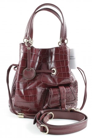 "Lancel Carry Bag ""Premier Flirt Bucket Bag Burgundy"" dark red"