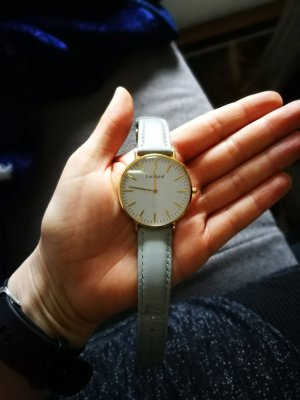 Watch gold-colored-light grey