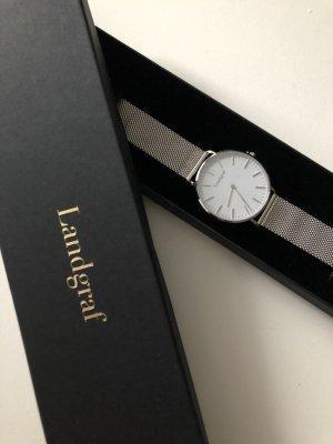 Horloge met metalen riempje veelkleurig