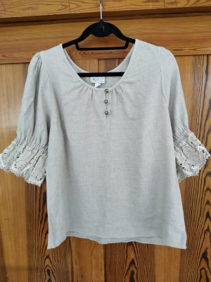 Meico Linen Blouse light grey mixture fibre
