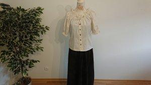 Meico Blusa in lino bianco sporco Tessuto misto
