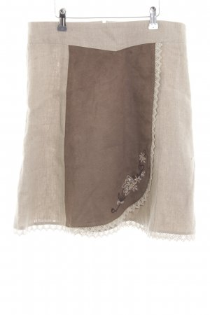 Landhaus by C&A Linen Skirt natural white-bronze-colored flecked casual look