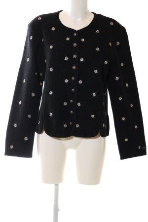 Landhaus by C&A Traditional Jacket black-white flower pattern elegant