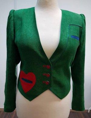Kort jack groen-rood
