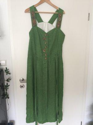 Falda folclórica verde Lino