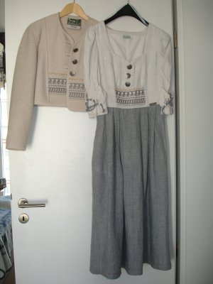 Traditional Skirt natural white-azure linen